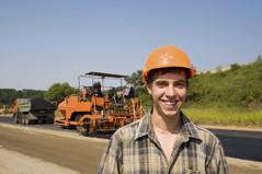 Mitarbeiter für Baustellensicherung der BaSiS GmbH aus Essen